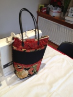 Finished bag: Under the Australian Sun fabric by Leesa Chandler